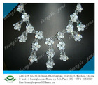 Charming hot selling white crystal CZ stones jewelry necklace