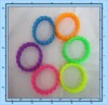 2012 hot 19mm size manual twist chain Silicone bracelet for girl