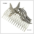 Fashion Phoenix Antique Silver Alloy Hairpin, Lady Accessory