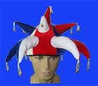 Party jester hat with points and bell