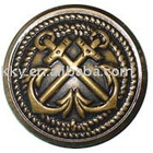 alloy button in anti brass color