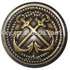 alloy button in anti brass color