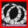 Crystal Bamboo Earrings Bridal Jewelry