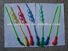 PVC plastic Bar drinking straw with spoon