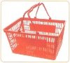 (shopping basket)plastic supermarket basket