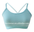 Japanese brand hot selling padded super high quality yoga women sports bra