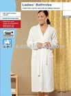 LADIES' BATHROBE COTTON-TERRY BATHROBE WHITE BATHROBE (EV43575)