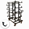 trolley cart for stanchions/hand cart/hotel cart