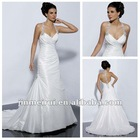 Spectacular Sweetheart Halter Speical Long Train White Bridal Dress In Stock