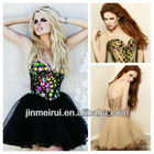 Unique Style Charming Wholesale Tulle Black Colorful Beading Designer Dresses From China