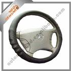 Black steering wheel cover red