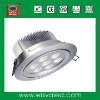 High power 7W LED recessed down lighting