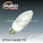 2012 diameter7mm candle 7W Economic CFL