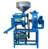 Turret rice peeling and grinder machine