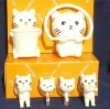 Stocked PVC Fashion Figure cute bathroom accessories set 6pcs