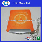 Rubber Pad Folding USB HUB Mouse Pad