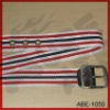 100% cotton woven ribbon belt