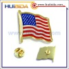 golden metal national flag pins