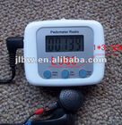 promotional sport item fm radio pedometer