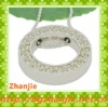 New design white diamond circle pendant