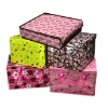 Non woven portable folding sundries quadrate storage box in stock