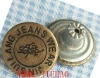 bronze jeans button,Zinc alloy rivet jeans buttons,1.7cm diameter