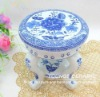 Blue And White Porcelai Round Stool