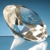 Spectacular Diamond Shaped Crystal Paperweight
