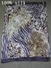 100% Silk Beach Head Scarf -leopard printed silk oblong scarf (beach towel)