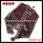 latest design hot sale fake fur trim leopard brown warm eco-friendly shawl with balls factory direct sale NEW! NEW!!