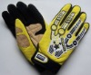 fox competitive price yellow motor racing gloves (M-711)