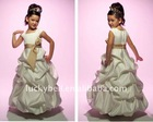 Free shipping New Spaghetti Strap Beautiful Colorful Flower girl dress