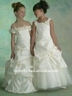Free shipping A-Line Beautiful Colorful Flower girl dress