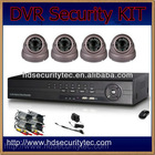 "4ch dvr kit home security system, 1/3"" colour Sony CCD"