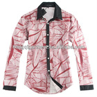 spattering dye & painting long-sleeves mens shirts