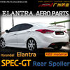 2012 Elantra aero parts ABS trunk vertical spoiler with light