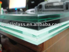clear and milky white pvb film tempered and laminated bathroom glass