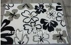 chinese wash painting style shaggy silk polyester floral carpets and rugs