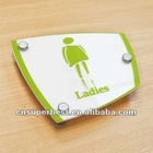 Customized clear acrylic toilet sign
