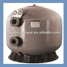 side-mounted fiberglass body sand filter tank