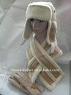 Lady fake fur hat/gloves/scarf sets