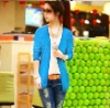 Hot Korean Women Candy Color Long Sleeve Cardigan Knit Top 9 Colors