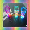 led flashing plastic glass with multicolor led light 350ml press on off switch