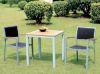 Garden Furniture - Aluminium Wicker Chair & Table set