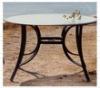 Vintage round metal dinning table