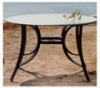 Vintage round metal dinning table