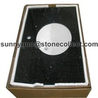 black galaxy granite countertops & Vanity sinks