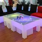 FO-8527 Led light bar furniture table set,rectangle coffee table