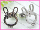 Cute Hollow-out Eobbit Stainless Steel Fancy Earrings For Party Girls