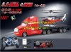 New Arrival 2-IN-1 drive truck and helicopter combo,4CH RC Truck and 3.5CH RC Helicopter